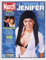 Paris Match 2771 4/7/2002 Triomphe De JENIFER, Johnny Hallyday 59 Ans, Guerre, Françoise Sagan - Gente