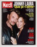 Paris Match 2822 19/6/2003 Johnny Hallyday & LAURA, Mort De Guy Lux, Tony Parker - Gente