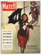Paris Match 353 14/1/1956 Grace Kelly  Et Le Prince Rainier, Mort De Mistinguett, Marcel Proust Etc - People