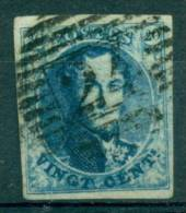 Belgique - No 7 Oblitéré D 24 (Bruxelles), 4 Marges, Luxe, See Scan - 1851-1857 Medaillen (6/8)