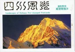 L-CH18 - CHINE Etui Avec 10 Cartes Entiers Postaux Pour La Poste Aérienne Paysages Du Sichuan - 1949 - ... République Populaire
