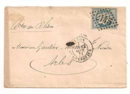 Lettre - RHONE - LYON - GC.2145 S/TP N°60 - Aff.Sept 71 - 1871 . TTB - 1871-1875 Ceres