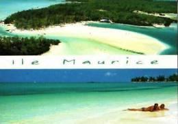 Île Maurice      2 Vues Île Aux Cerfs. Mont Choisy . - Mauritius