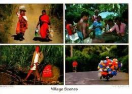 Île Maurice      4 Vues  Village Scène . - Mauritius