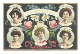 FANTAISIE - Le Langage Des Cheveux - Carte Structurée - Femme - Coiffure (Y228)hon - Femmes