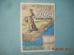 CLOUET  10171 COTE D AZUR  CHEMIN DE FER P.L.M    MALTESTE - Werbepostkarten