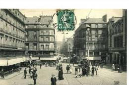 Rouen    Rue  De La République  Animée - Rouen