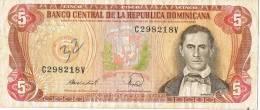 Billete De 5 Pesos Republica Dominicana. Sanchez Y Presa Hidoelectrica - República Dominicana