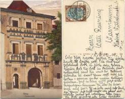 AK Brieg 1919, Piastenschloß, Nach Warmbrunn Gelaufen - Schlesien
