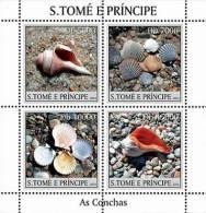 SAO TOME & PRINCIPE 2004 - Shells - Mi 2584-2587, YT 1898-1901 - Schelpen