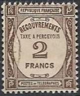 FRANCE - 2 F. Sépia De 1927-31 Oblitéré TTB - Taxes