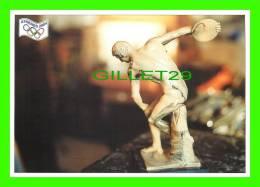 JEUX OLYMPIQUES, ATHÈNES 2004 - LE LANCER DU DISQUE (ATHLÉTISME) - ILLUSTRATEUR, J.P. BARZAZI - No 05 - FESTICART 2004 , - Jeux Olympiques