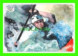 JEUX OLYMPIQUES, ATHÈNES 2004 - LE CANOE-KAYAK - ILLUSTRATEUR, J.P. PORCHEROT - No 12 - FESTICART 2004 - TIRAGE 800 Ex - - Jeux Olympiques