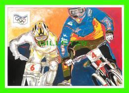JEUX OLYMPIQUES, ATHÈNES 2004 - LE CYCLISME - ILLUSTRATEUR, LENZI - No 13 - FESTICART 2004 - TIRAGE 800 Ex - - Jeux Olympiques
