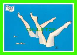 JEUX OLYMPIQUES, ATHÈNES 2004 - LA NATATION - ILLUSTRATEUR, S. COCHARD - No 23 - FESTICART 2004 - TIRAGE 800 Ex - - Jeux Olympiques