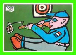 JEUX OLYMPIQUES, ATHÈNES 2004  - LE TIR (ARME) - ILLUSTRATEUR, ERGON - No 28 - FESTICART 2004 - TIRAGE 800 Ex - - Jeux Olympiques