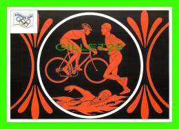 JEUX OLYMPIQUES, ATHÈNES  - LE TRIATHLON - BICYCLE - ILLUSTRATEUR, J.M. PETEY - No 30 - FESTICART 2004 - TIRAGE 800 Ex - - Jeux Olympiques