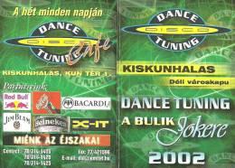 COCA-COLA SOFT DRINK RED BULL ENERGY DRINK JIM BEAM WHISKEY HEINEKEN BEER BACARDI CALENDAR * Dance Disco 2002 * Hungary - Calendarios