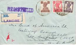 India Registered Cover To U.S. - India (...-1947)