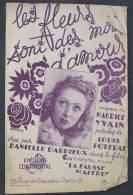"""Partition \"""" Les Fleurs Sont Des Lots D´amour"""" De Danielle Darrieux - Musique & Instruments"""