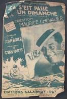 """Partition \"""" ça C´est Passé Un Dimanche"""" De Maurice Chevalier - Music & Instruments"""