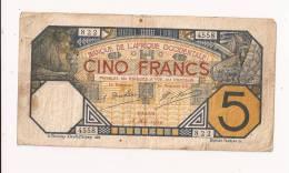 AFRIQUE OCCIDENTALE 5 FRANCS 1929 - Bankbiljetten