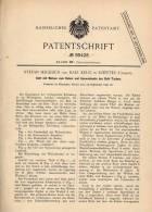 Original Patentschrift - K. Krug In Szentes , Ungarn , 1897 , Bett Mit Walzen !!! - Möbel