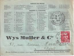 15 Fr  GANDON Sur Enveloppe Avec Publicité - Postmark Collection (Covers)
