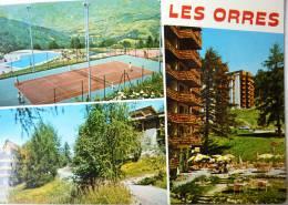 LES HAUTES ALPES LES ORRES PISCINE ET TENNIS - EDITIONS DES ALPES - CPSM VOYAGEE 1977 - Non Classés
