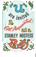 Invitation To A Get Acquainted At A Stanley Hostess Party - Advertising