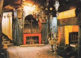 * * BETHLEHEM * * L'Eglise De La Nativité, La Creche Sacrée ( Carte Vierge ) - Israel