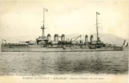 "Ship  Schiffe  Marine Nationale  "" MIRABEAU  ""     Postcard - Warships"