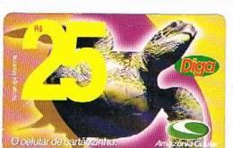 BRASILE ( BRAZIL) - AMAZONIA CELULAR  (GSM RECHARGE)   -  TURTLE    -    USED   -  RIF. 2195 - Tartarughe