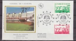 France, 1986, Europe, Conseil De L'Europe, Two FDC - Idee Europee