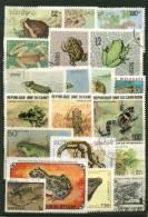 Lot 19 - 30 T Différents Oblit. - Reptiles - Batraciens - Reptiles & Batraciens