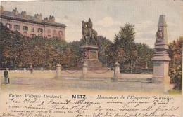 57 - Metz - Kaiser Wilhelm-Denkmal Monument De L'Empereur Guillaume (précurseur, Colorée, Timbres Luxembourgeois) - Metz