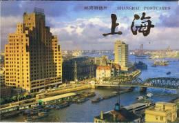 L-CH27 - CHINE Etui Avec 10 Cartes Entiers Postaux Vues DE SHANGHAI - 1949 - ... République Populaire
