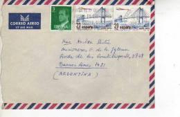 ESPAÑA CARTA  CIRCULADA      OHL - 1981-90 Cartas