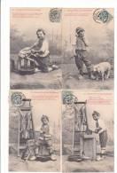 Bergeret - DERNIER JOUR D´UN CONDAMNE (Cochon) - Série Complète De 5 Cartes - Bergeret