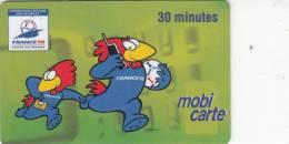 FRANCE -  France 98/Coupe De Monde, La Mascotte, France Telecom Mobicarte, 01/97, Used - Sport
