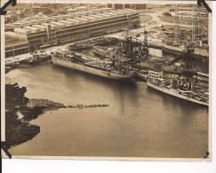 Us Navy Norfolk Virginie Base De La Navy 1920-1930 Cale Seche Cuirassé Destroyers Et Navires De Servitude - War, Military