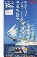 Télécarte Japon * BATEAU VOILIER * Sailing SHIP (257) Phonecard Japan * SCHIFF * Segelschiff * Zeilboot  YACHT - Barche