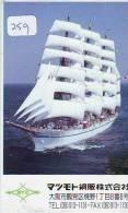 Télécarte Japon * BATEAU VOILIER * Sailing SHIP (259) Phonecard Japan * SCHIFF * Segelschiff * Zeilboot  YACHT - Boten