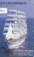 Télécarte Japon * BATEAU VOILIER * Sailing SHIP (261) Phonecard Japan * SCHIFF * Segelschiff * Zeilboot  YACHT - Boten