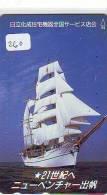 Télécarte Japon * BATEAU VOILIER * Sailing SHIP (260) Phonecard Japan * SCHIFF * Segelschiff * Zeilboot  YACHT - Boten