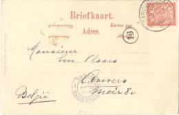 _ik273: N° 46: TANDJONGBALEI (korte Balk) / Briefkaart:  Petro En Vrouw.....> Anvers 13 - Indes Néerlandaises
