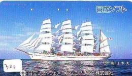 Télécarte Japon * BATEAU VOILIER * Sailing SHIP (300) Phonecard Japan * SCHIFF * Segelschiff * Zeilboot * YACHT - Boats