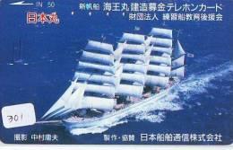 Télécarte Japon * BATEAU VOILIER * Sailing SHIP (301) Phonecard Japan * SCHIFF * Segelschiff * Zeilboot * YACHT - Boats