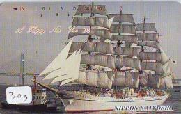 Télécarte Japon * BATEAU VOILIER * Sailing SHIP (303) Phonecard Japan * SCHIFF * Segelschiff * Zeilboot * YACHT - Boats