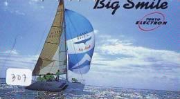Télécarte Japon * BATEAU VOILIER * Sailing SHIP (307) Phonecard Japan * SCHIFF * Segelschiff * Zeilboot * YACHT - Boats
